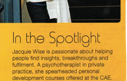 Jacquie Wise featured in CAE Course Guide